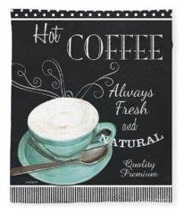 Chalkboard Retro Coffee Shop 1 Fleece Blanket