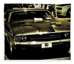 Challenger 1970 Fleece Blanket