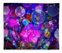Champagne Bubbles  Fleece Blanket