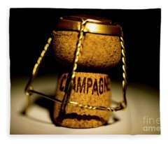 Fleece Blanket featuring the photograph Champagne Cork by Mats Silvan