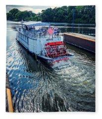 Champlain Canal Patriot Fleece Blanket