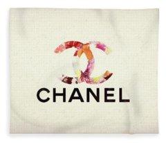 Chanel Floral Texture  Fleece Blanket