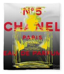 Chanel  No. 5 Pop Art - #1 Fleece Blanket