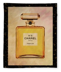 Chanel No.5 Parfum Bottle 2 Fleece Blanket