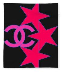 Chanel Stars-9 Fleece Blanket