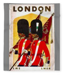 Changing The Guard London - 1937 Fleece Blanket