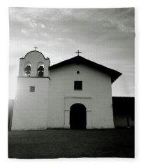 Chapel In The Shadows- Art By Linda Woods Fleece Blanket