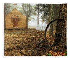 Chapel In The Woods 1 Fleece Blanket