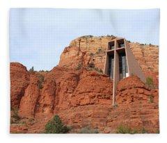 Chapel Of The Holy Cross Fleece Blanket