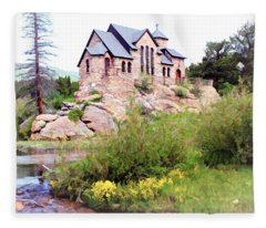 Chapel On A Hill - Allenspark, Colorado Fleece Blanket