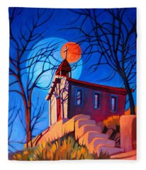 Chapel On The Hill Fleece Blanket