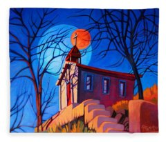 Chapel On The Hill Fleece Blanket