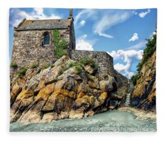 Chapel Saint-aubert Fleece Blanket