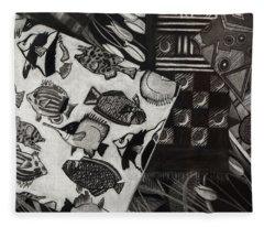 Charcoal Chaos Fleece Blanket