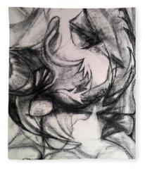 Charcoal Study Fleece Blanket