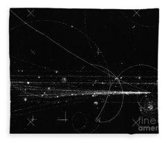 Charged Particles, Bubble Chamber Event Fleece Blanket