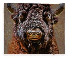 Charging Bison Fleece Blanket