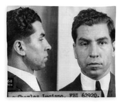 Charles Lucky Luciano Mug Shot 1931 Horizontal Fleece Blanket