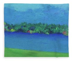 Charles River, Spring Fleece Blanket