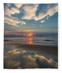 Charleston Coast Sunrise Fleece Blanket
