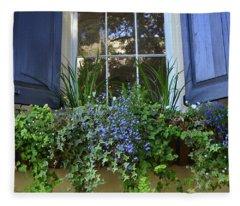 Charleston Flower Box 3 Fleece Blanket