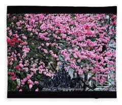 Charleston Pink Fleece Blanket