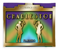 Charleston Prohibition Fleece Blanket