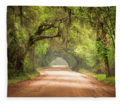 Charleston Sc Edisto Island Dirt Road - The Deep South Fleece Blanket