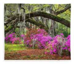 Charleston South Carolina Spring Flowers Lowcountry Landscape Photography Fleece Blanket