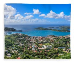 Charlotte Amalie St. Thomas In The Caribbean Fleece Blanket
