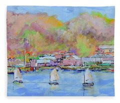 Charlotte, Ny Sailing Class Fleece Blanket