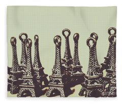 Charming Europe Landmarks Fleece Blanket