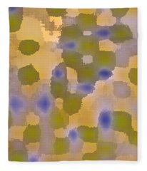 Chartreuse Two  By Rjfxx. Original Abstract Art Painting. Fleece Blanket