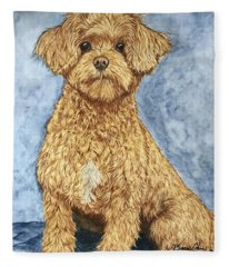 Chase The Maltipoo Fleece Blanket