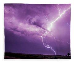 Chasing Nebraska Lightning 018 Fleece Blanket