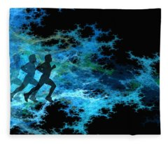 Chasing The Joneses Fleece Blanket