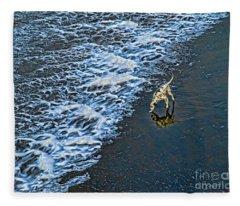 Chasing Waves Fleece Blanket
