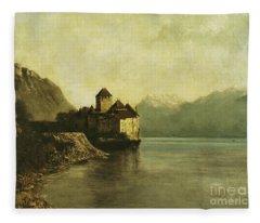 Chateau De Chillon Fleece Blanket