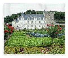 Chateau Villandry - Loire Valley, France Fleece Blanket