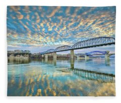 Chattanooga Has Crazy Clouds Fleece Blanket