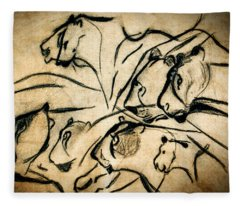 Chauvet Cave Lions Fleece Blanket