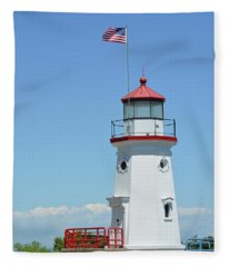 Cheboygan Crib Lighthouse Fleece Blanket