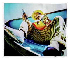 Cheech Marin In Boat Fleece Blanket