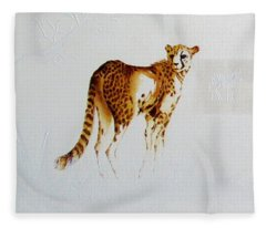 Cheetah And Zebras Fleece Blanket