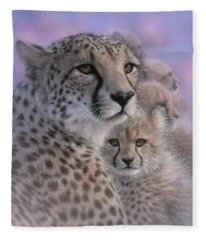 Cheetah - Mother's Love Fleece Blanket