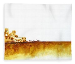 Cheetah Mum And Cubs - Original Artwork Fleece Blanket