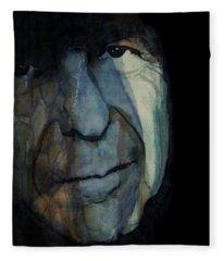 Chelsea Hotel - Leonard Cohen  Fleece Blanket