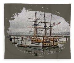 Chelsea Rose And Tall Ships Fleece Blanket