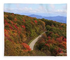 Cherohala Skyway In Nc Fleece Blanket