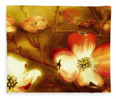 Cherokee Rose Dogwood - Glow Fleece Blanket